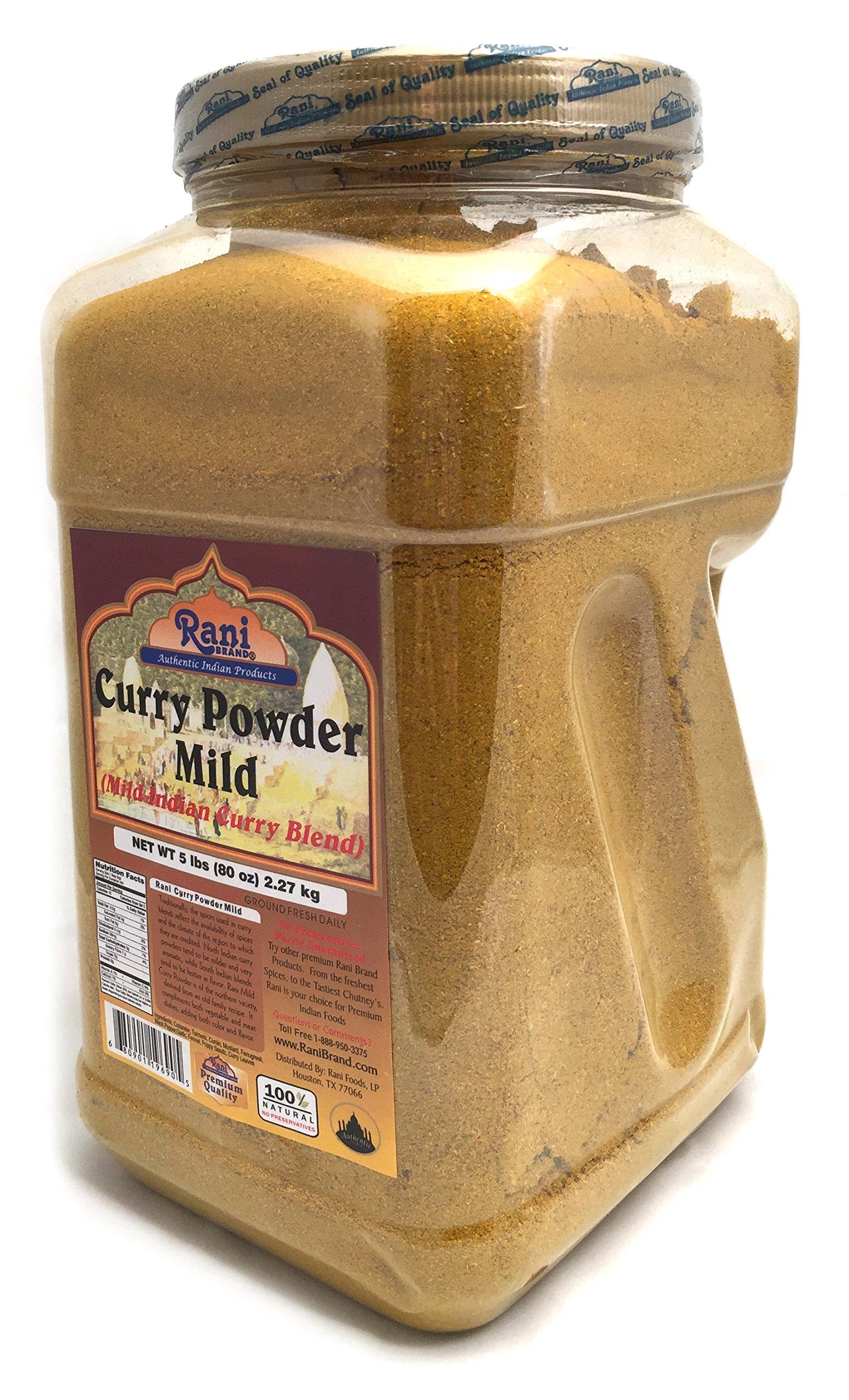Rani Curry Powder Mild Natural 10-Spice Blend 5lbs (80oz) Bulk, PET Jar ~ Salt Free | Vegan | Gluten Free Ingredients | NON-GMO
