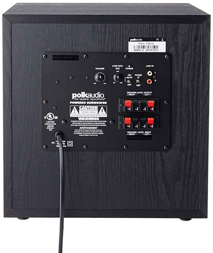 amazon com polk audio psw108 10 subwoofer each black home rh amazon com Home Audio Subwoofer Wiring Subwoofer Polk TL1600
