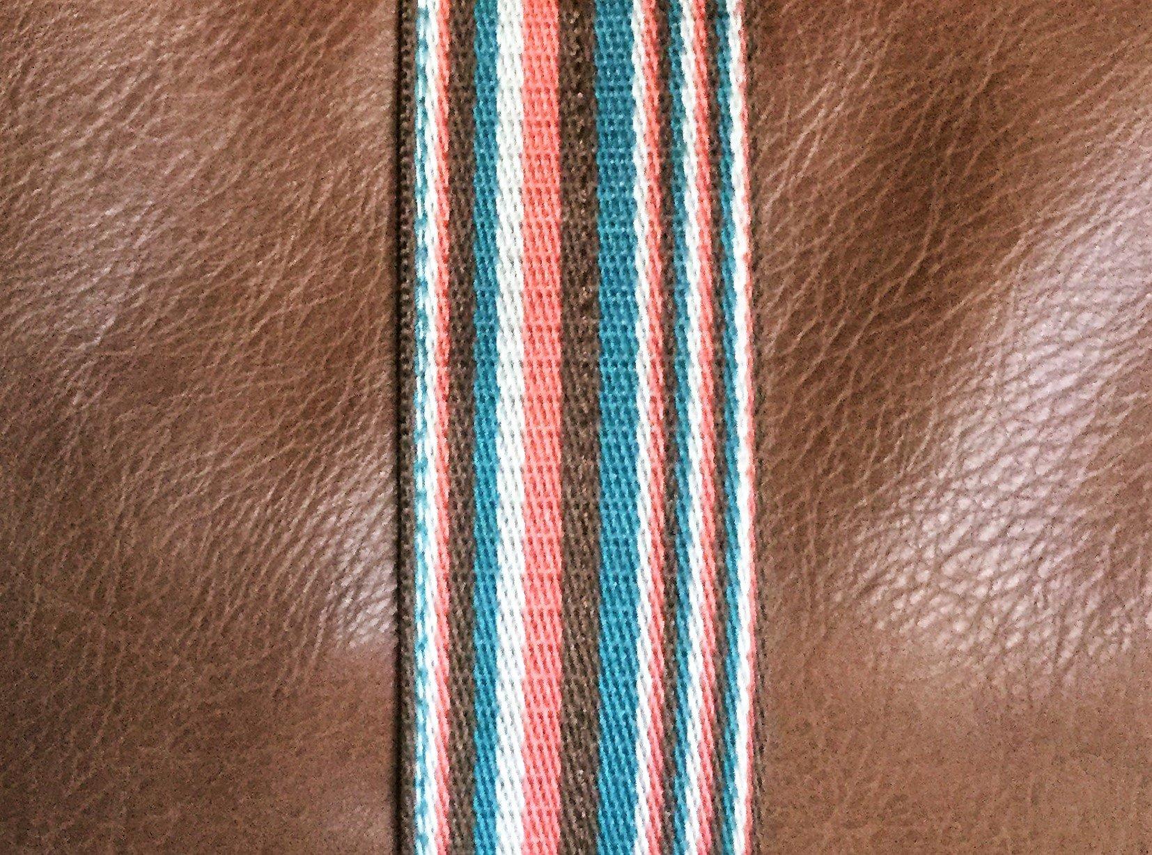 Bungalow 360 Original Vegan Leather Striped Hobo Bag (Nutmeg) by bungalow 360 (Image #2)