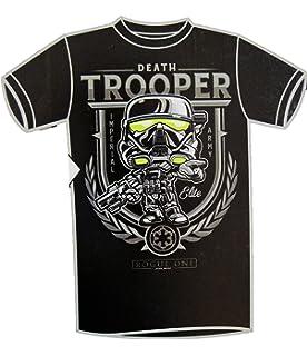 Funko Pop! Tees Star Wars Death Trooper Short Sleeve T-Shirt, Black