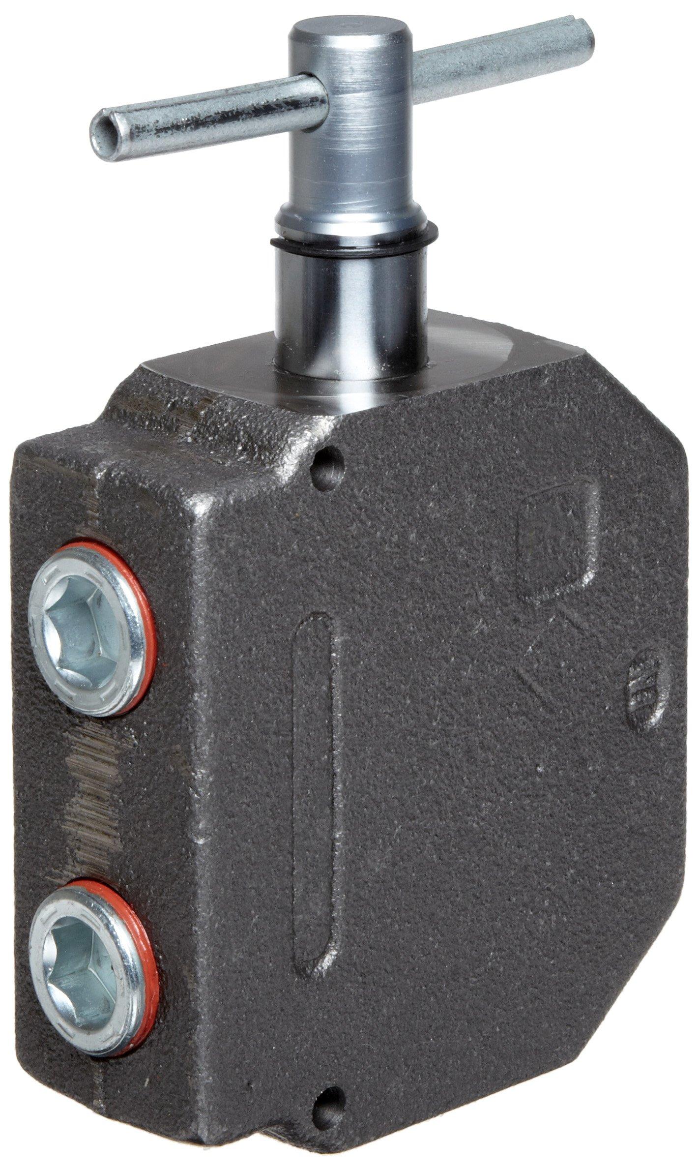 Prince RD-975 Selector Valve, Monoblock, 1 Spool, 3 Ways, 2 Positions, T-Handle, 3000 psi, 30 gpm, 3/4'' NPT Female