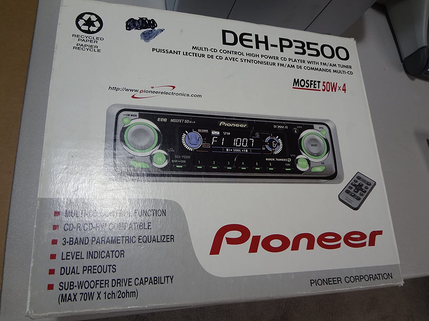 Pioneer Deh P3500 Single Play Compact Disc Wiring Diagram Dehp3500 Electronics