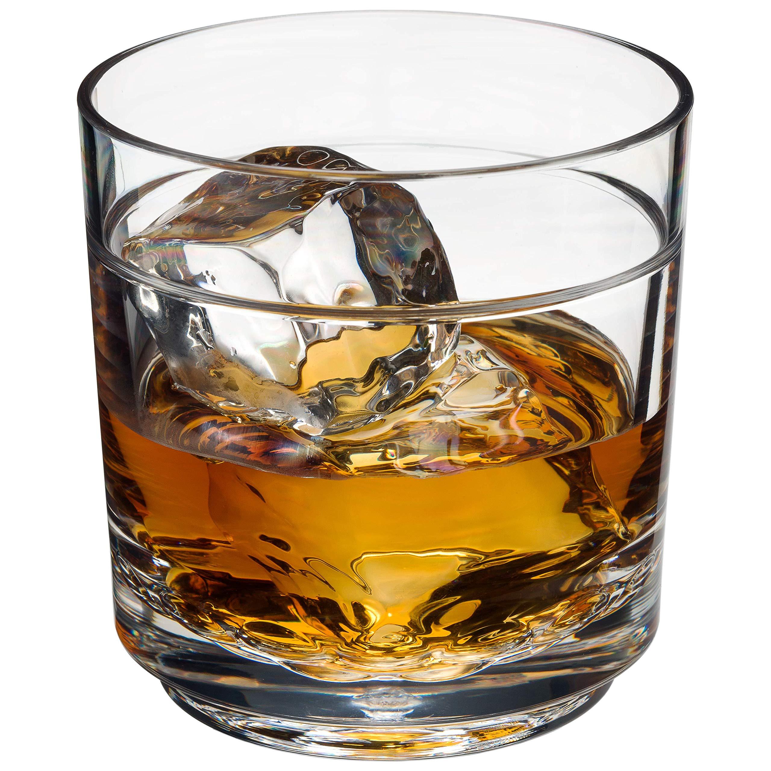 Drinique ELT-RK-CLR-24 Elite Rocks Unbreakable Tritan Whiskey Glasses 10 oz (Case of 24) Clear