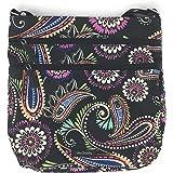 Vera Bradley Triple Zip Hipster Cross-body Bag - Lightweight Polyester Fabric Version