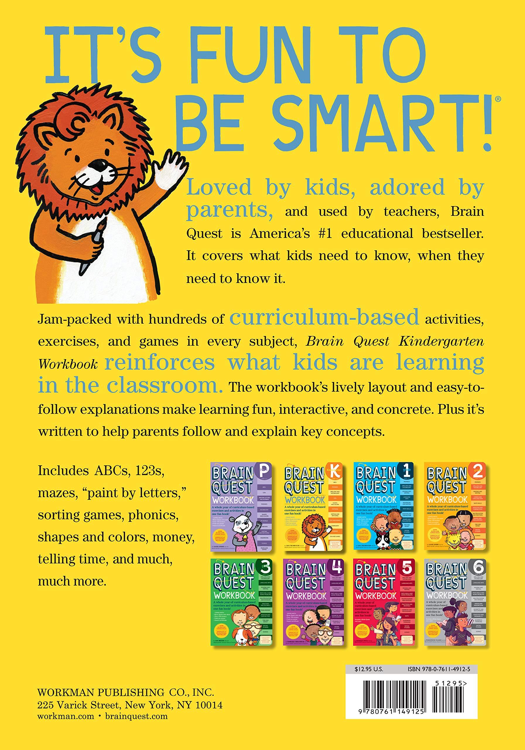 Brain Quest Workbook: Kindergarten: Lisa Trumbauer