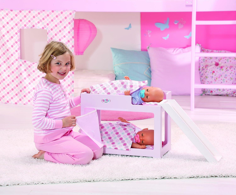 Puppen Etagenbett Mit Rutsche : Zapf 809563 baby born hochbett mit rutsche: amazon.de: spielzeug