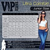 V.I.P.JEANS Junior's Distressed Patched Skinny