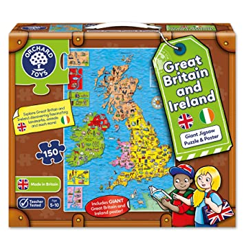 Interactive Jigsaw Map Of Ireland.Orchard Toys Great Britain Ireland Map Jigsaw Puzzle