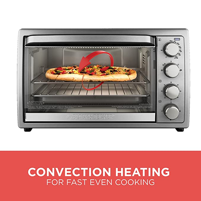 Black & Decker TO4314SSD 9-Slice Rotisserie Convection Countertop Oven by Black & Decker: Amazon.es: Hogar