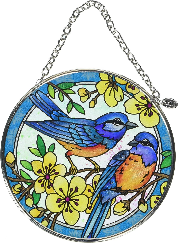 Amia Blue Bird Glass Suncatcher, 4-1/2