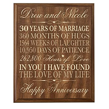 Amazon Lifesong Milestones Personalized 30th Wedding