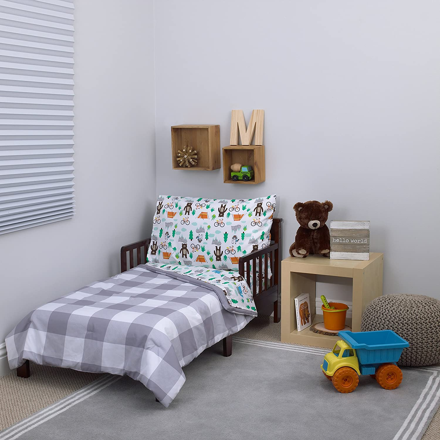 52 x 28 Carters 4-Piece Toddler Set Grey//White//Green//Blue Woodland Boy