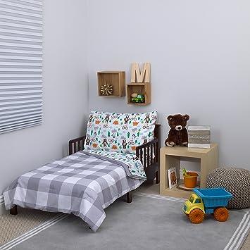 online store 517b6 8b2d4 Carter's 4-Piece Toddler Set, Grey/White/Green/Blue Woodland Boy, 52