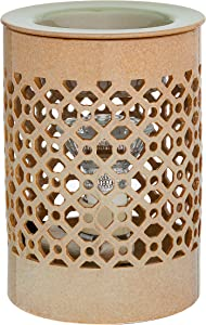 Ceramic Electric Candle Warmer (Sage Brush) | On/Off Switch Plug in Fragrance Warmer for Scented Wax Melts, Cubes, Tarts | Air Freshener Set for Home Décor, Office, and Gifts
