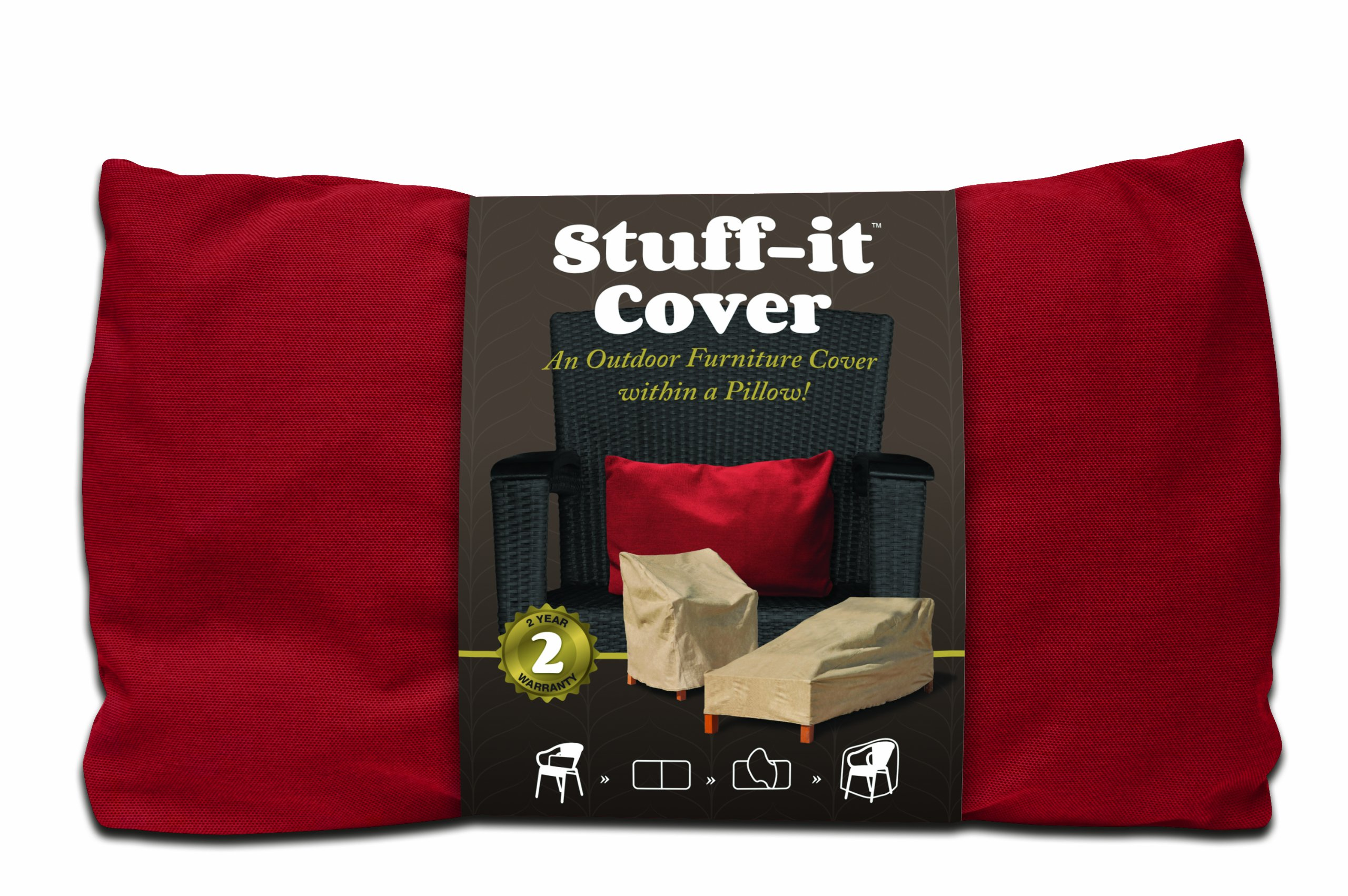 Budge Industries The Stuff-It Wicker Loveseat Cover, Red
