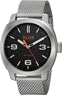 HUGO BOSS Mens Cape Town Casual Quartz Watch with Stainless-Steel Strap, Silver,
