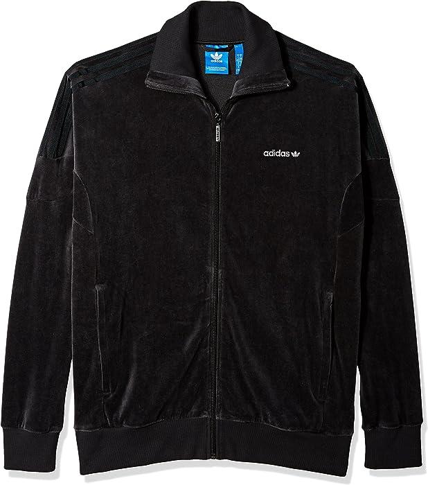 c99bffe6988 Amazon.com: adidas Originals Men's Tops Clr84 Velour Track, Black ...