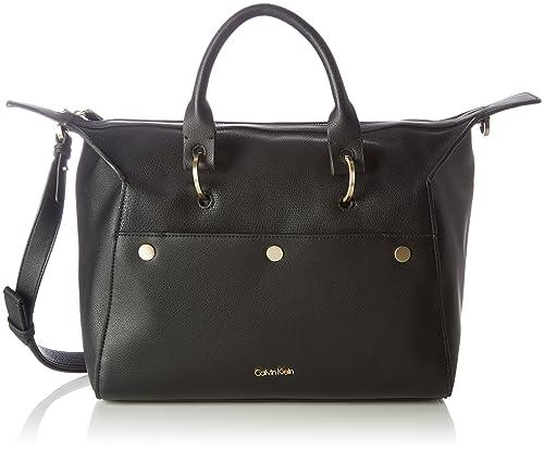 Calvin Klein - Le4 Duffle, cartera Mujer, Schwarz (Black), 17x22x33 cm