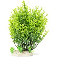 Aquarium Decorations Fish Tank Artificial Green Water Plants Made of Soft Plastic, Safe for All Fish & Pets