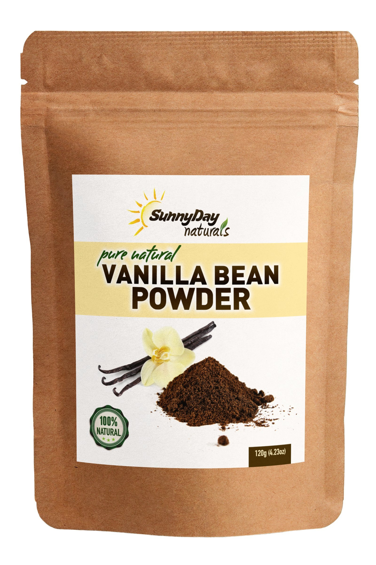 Naturally Grown Vanilla Bean Powder, 4.23 Oz - Raw Ground Vanilla Bean - Unsweetened, Gluten-Free - EXTREMELY FRESH - Ground Moments Before Packaging!