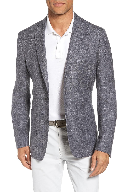 [モンテロッソ] メンズ ジャケットブルゾン Monte Rosso Trim Fit Wool Blend Blazer [並行輸入品] B07DW56SJC  44 Regular