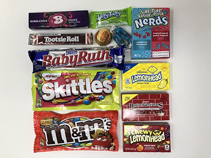 American Candy Box Hamper | Selección de cajas de regalo American Sweets and Chocolate Bar |