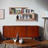 Klaxon Home Decor Wall Shelves (Matte Finish, Cherry)
