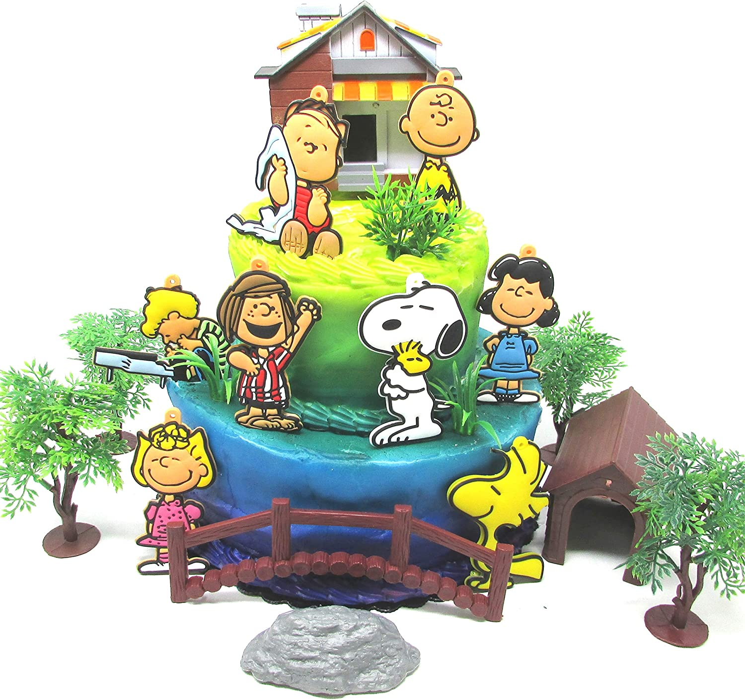 Awesome Amazon Com Peanuts Charlie Brown 18 Piece Birthday Cake Topper Funny Birthday Cards Online Alyptdamsfinfo