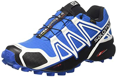 Salomon Herren Speedcross 4 GTX Schuhe, Mehrfarbig (White Sensif Indigo Bu), 45 13 EU