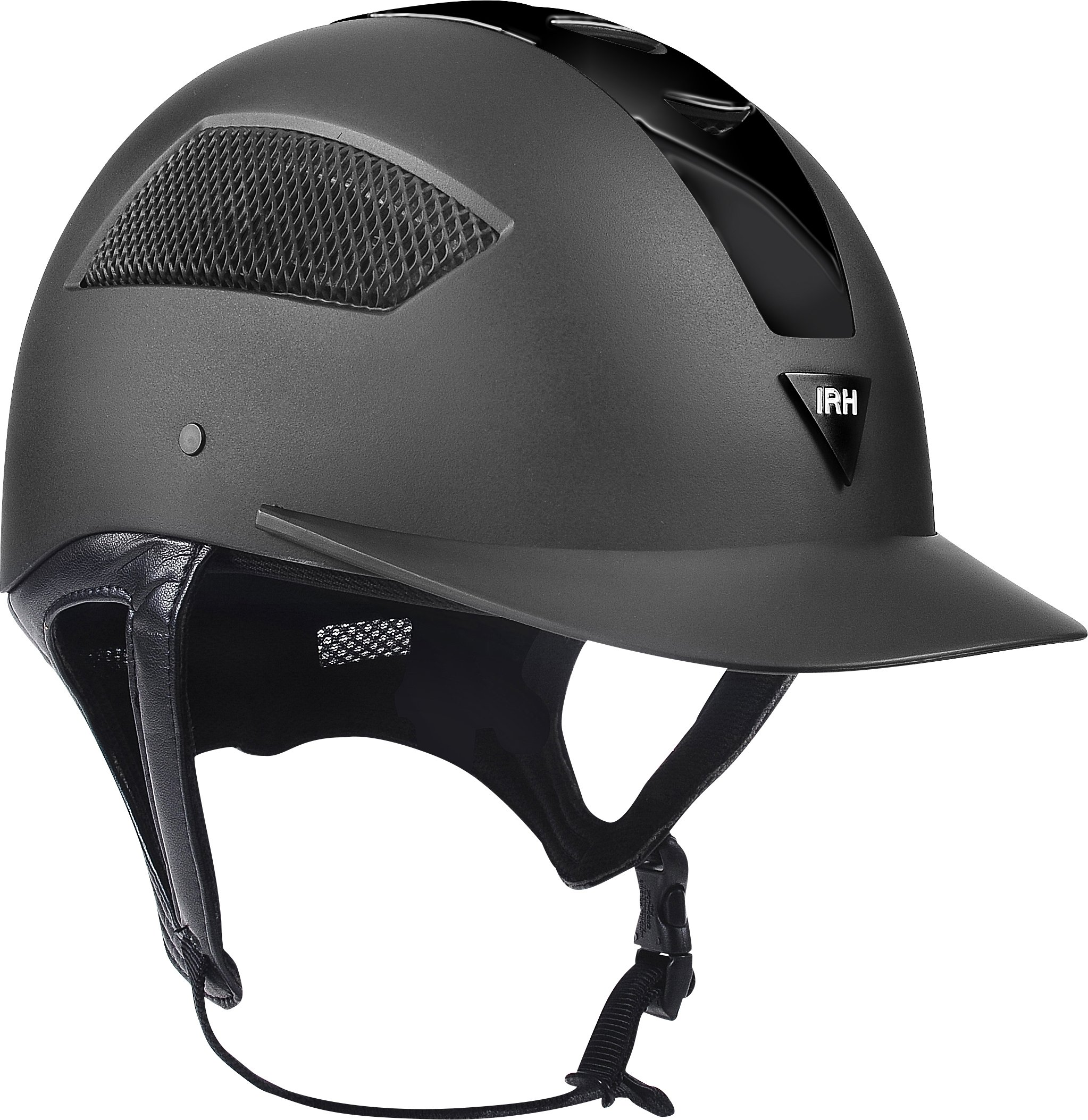 ELITE EXTREME Full Wrap-Around Harness Helmet with Matte Black Shell & Glossy Black, Size 6 7/8, Black by ELITE EXTREME (Image #1)