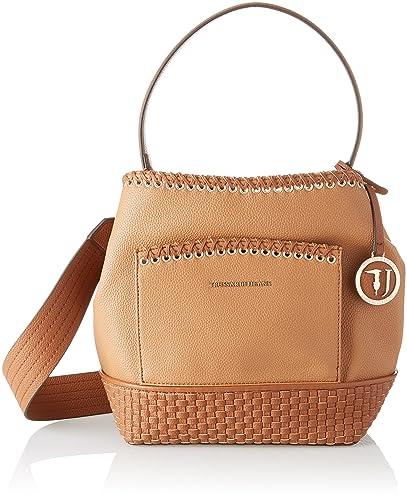 Trussardi Jeans Mimosa Smooth Ecoleather Satchel Bag, Cartables femme, (Leather), 16x46x29 cm (W x H L)