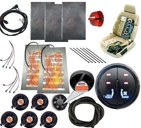 Tech Era 12v Car Heated And Cooled Seat Pad Kits System Left Right