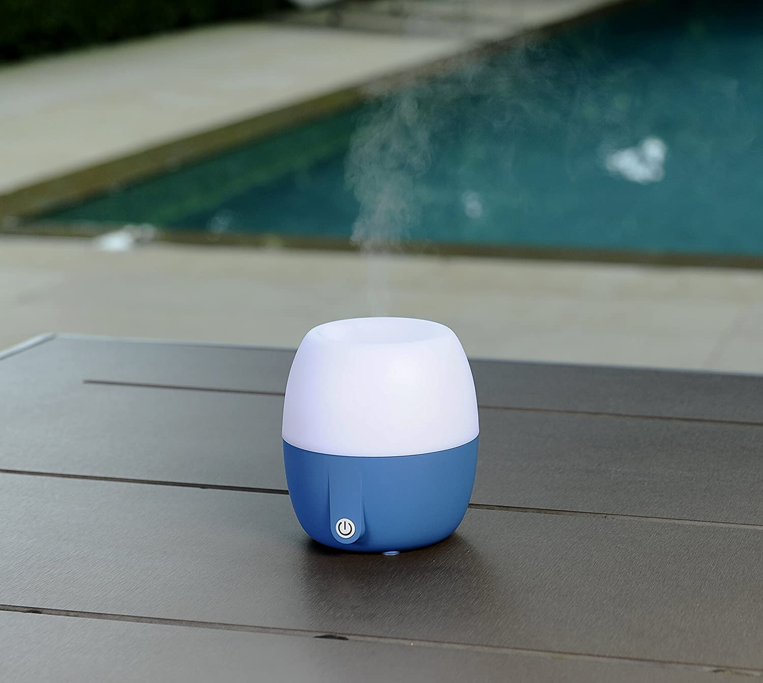Best Anton Aroma, Scent and Fragrance Air Diffuser, Essential Oil ultrasonic Aromatherapy, Humidifier - Now with Italian Design, 140ml, Extra Long Cord, Timer, Auto Shut Off, Soft Paint, Color LED (Ocean blue) Pilgrim Collection