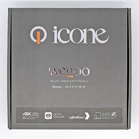 ICONE WEGOO 4K UHD Satellite & IPTV Receiver: Amazon.es: Electrónica