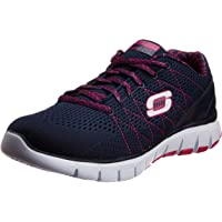 Skechers Women's Skech Flex Navy and Purple Mesh Track and Field Shoes