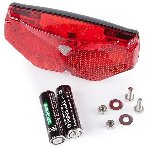 42 opinioni per Ultrasport Luce Posteriore LED Automatica per Bicicletta, 5 LED, Accensione e