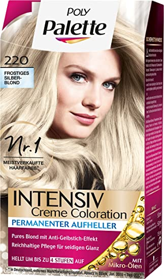 Poly Palette Intensiv Creme Coloration 220 Frostiges Silberblond