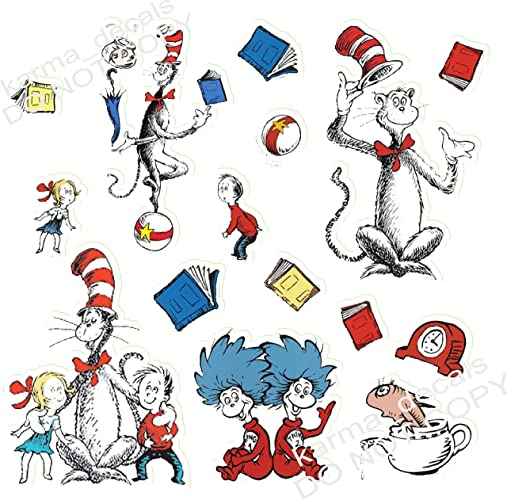 Amazon Dr Seuss Sticker Set 15 Pieces Decal Movie WALL STICKER