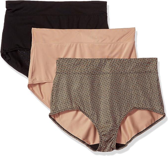 NWT 2 Warners No Muffin Top Microfiber Briefs Panties Size 2X//9 White #312U