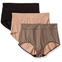 Warner's Women's Blissful Benefits No Muffin Top 3 Pack Brief Panty