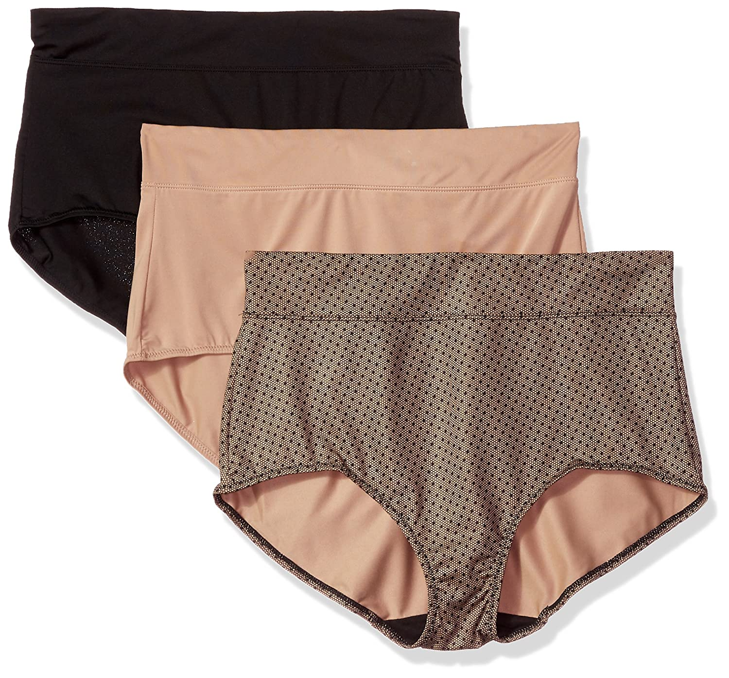 18d7e9a814d Warner's Women's Blissful Benefits No Muffin Top 3 Pack Brief Panty at  Amazon Women's Clothing store: