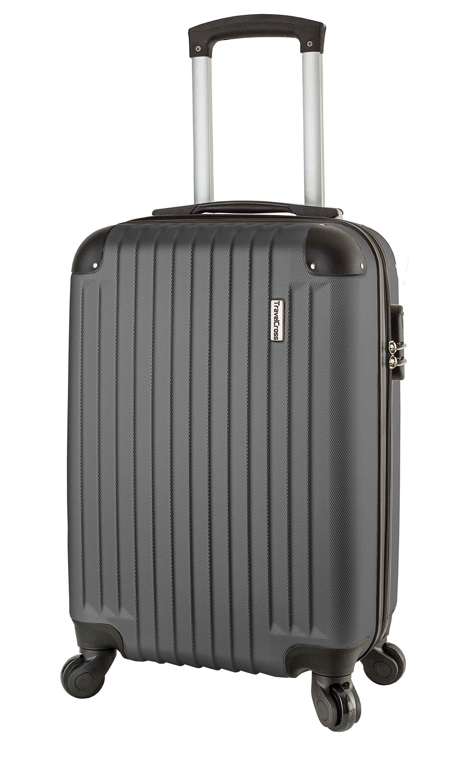 TravelCross Philadelphia 20'' Carry On Lightweight Hardshell Spinner Luggage - Dark Gray