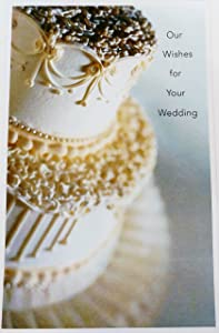 """Our Wishes for Your Wedding Greeting Card - """"We're so happy for both of you, and we wish for a marriage that's filled with more joy than you ever imagined"""" to Bride and Groom from Both of Us"""