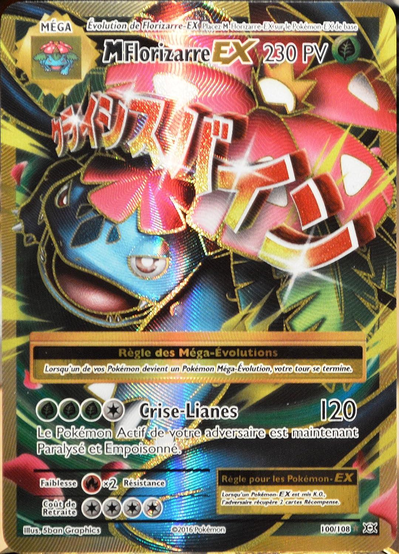 Carte Pokemon M FLORIZARRE 100//108 Mega EX Full Art XY12 Française NEUF