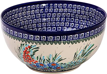 Amazon Polish Pottery Ceramika Boleslawiec 6060 Royal Blue New Polish Pottery Patterns