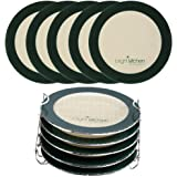 """5 Dehydrating Sheets Compatible With Ninja Foodi Dehydrator - 8"""" Circle Non Stick Drying Herbs Chips Fruit Leather Jerky Food"""