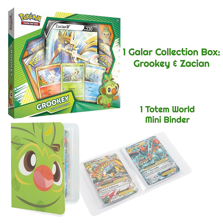 Totem World Galar Collection Box Grookey /& Zacian V with a Totem World Mini Binder Collectors Album Bundle