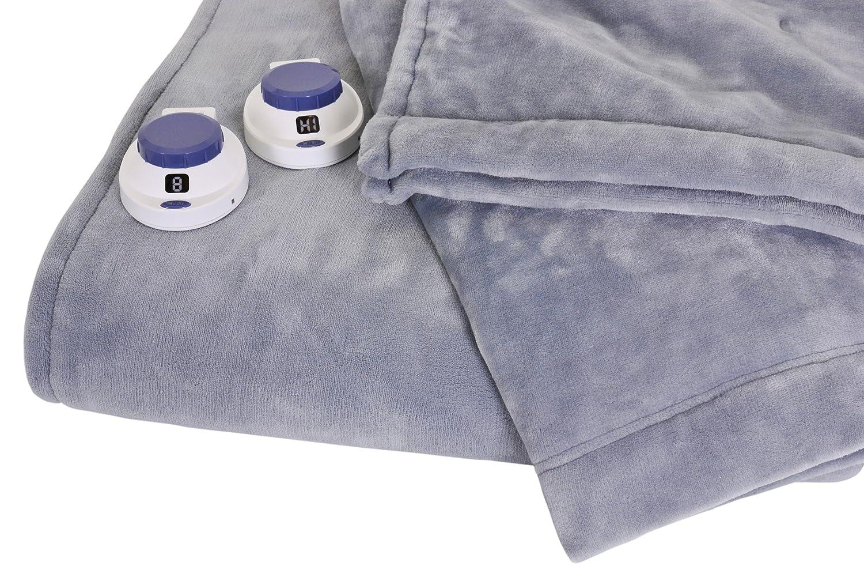 Amazon.com: SoftHeat Luxurious Macromink Fleece Low-Voltage Electric Heated  Blanket, Queen Size, Blue: Home & Kitchen