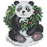 Holiday Panda Mill Hill Beaded Counted Cross Stitch Kit MH184304