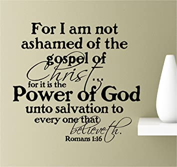Amazoncom For I Am Not Ashamed Of The Gospel Of Christfor It Is